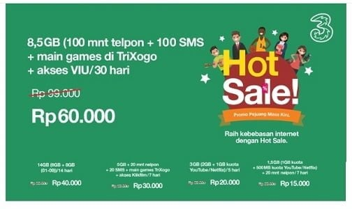 Paket Internet Tri Unlimited 2019