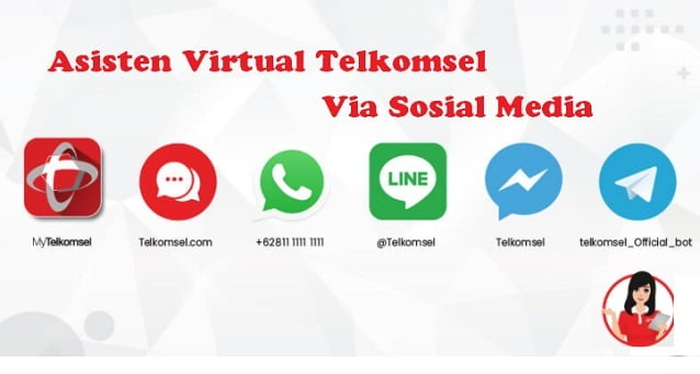 Asisten Virtual Telkomsel Lewat Sosial Media