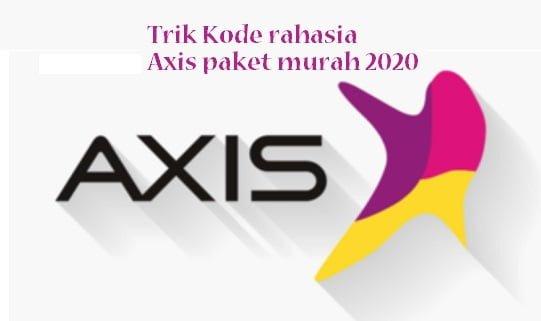 Trik Kode rahasia Axis paket murah 2020