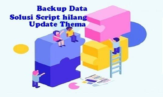 Backup Data Solusi Script hilang Update Thema