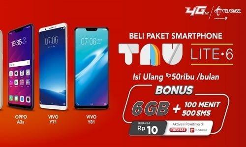 Paket TAU LITE6 Telkomsel