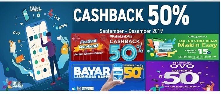 Isi Pulsa Cashback 50% All Provider