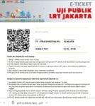 E Tiket LRT Jakarta