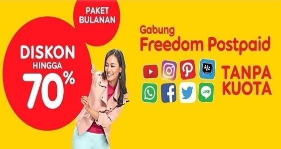 Freedom Postpaid Indosat Bundling