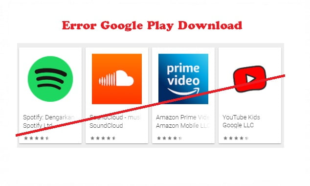 Cara mengatasi Error Google Play Download