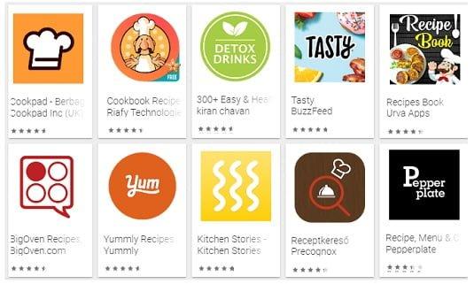 Ide memasak hari ini Di Aplikasi memasak Android