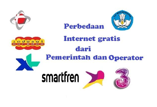 Perbedaan Internet gratis dari Pemerintah dan Operator