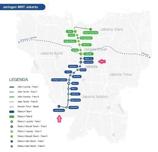 Rute MRT Jakarta Favorit + fase 2