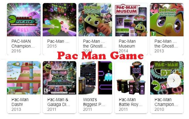 Pac Man Game bisa dimainkan online dan offline