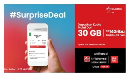 Surprise Deal Telkomsel Terbaru