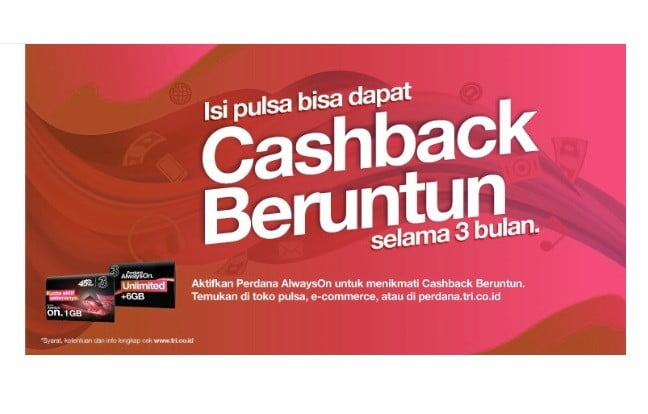 TRI Cashback New Normal 10 Rupiah