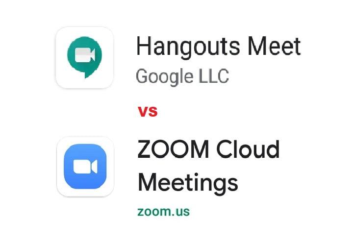 Perbedaan Aplikasi Google meet Vs Zoom