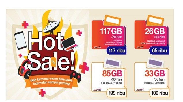 Cara daftar Paket Hot Sale TRI terbaru