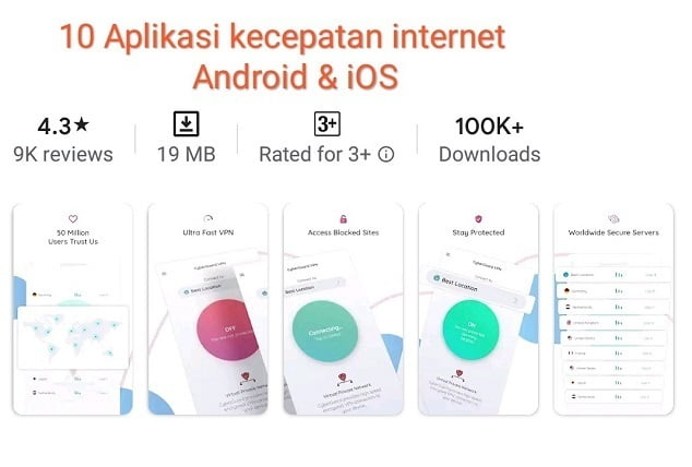 10 Aplikasi pengukur kecepatan internet di Android dan IOS